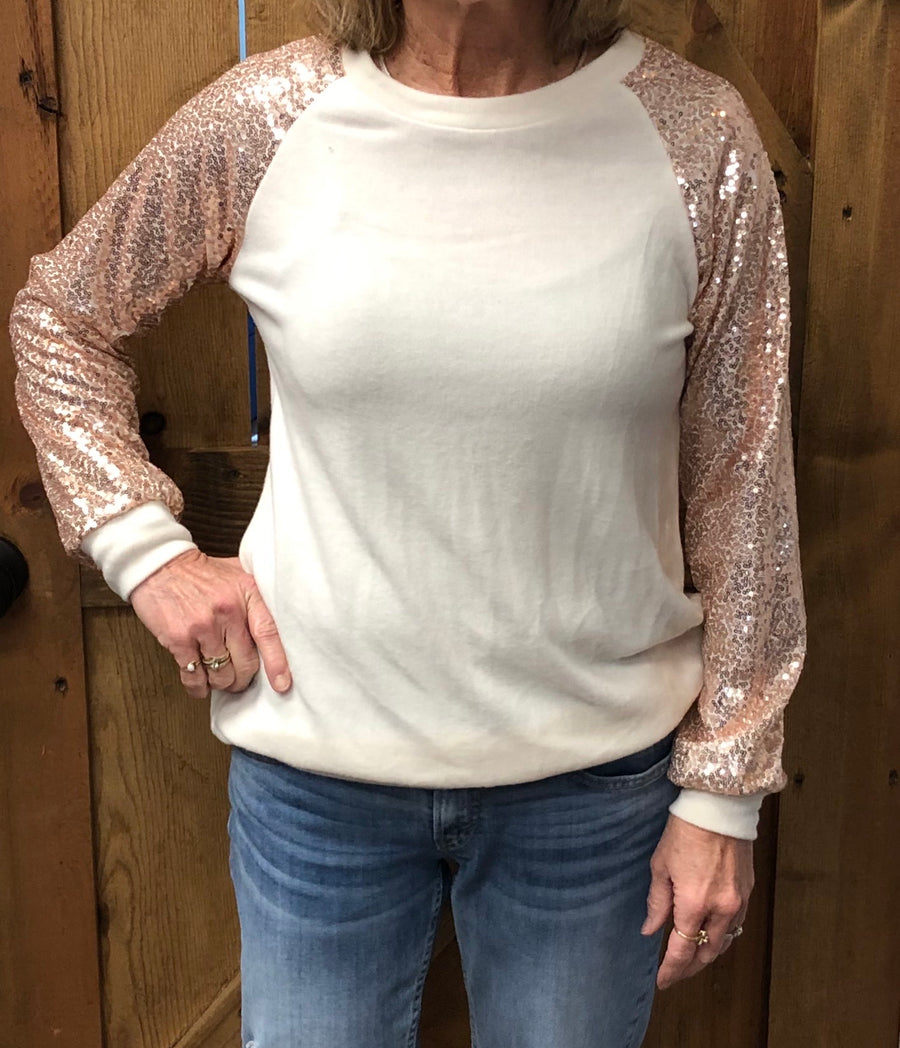 Oatmeal Blush Sequence Top