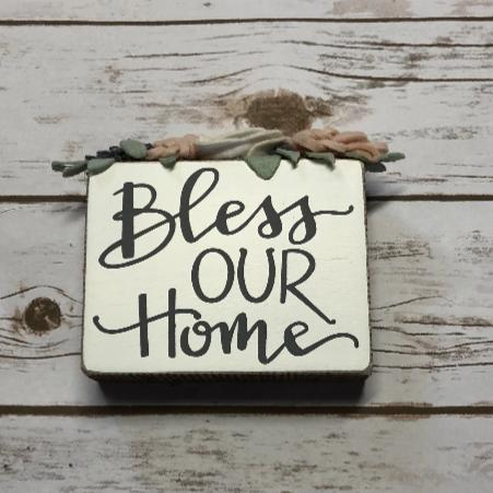 Bless Our Home Box Sign