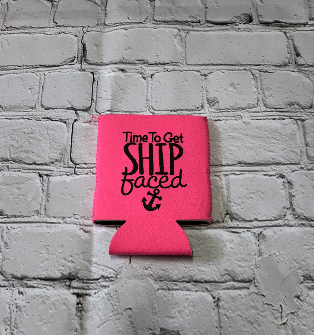 Ship Faced Koozie
