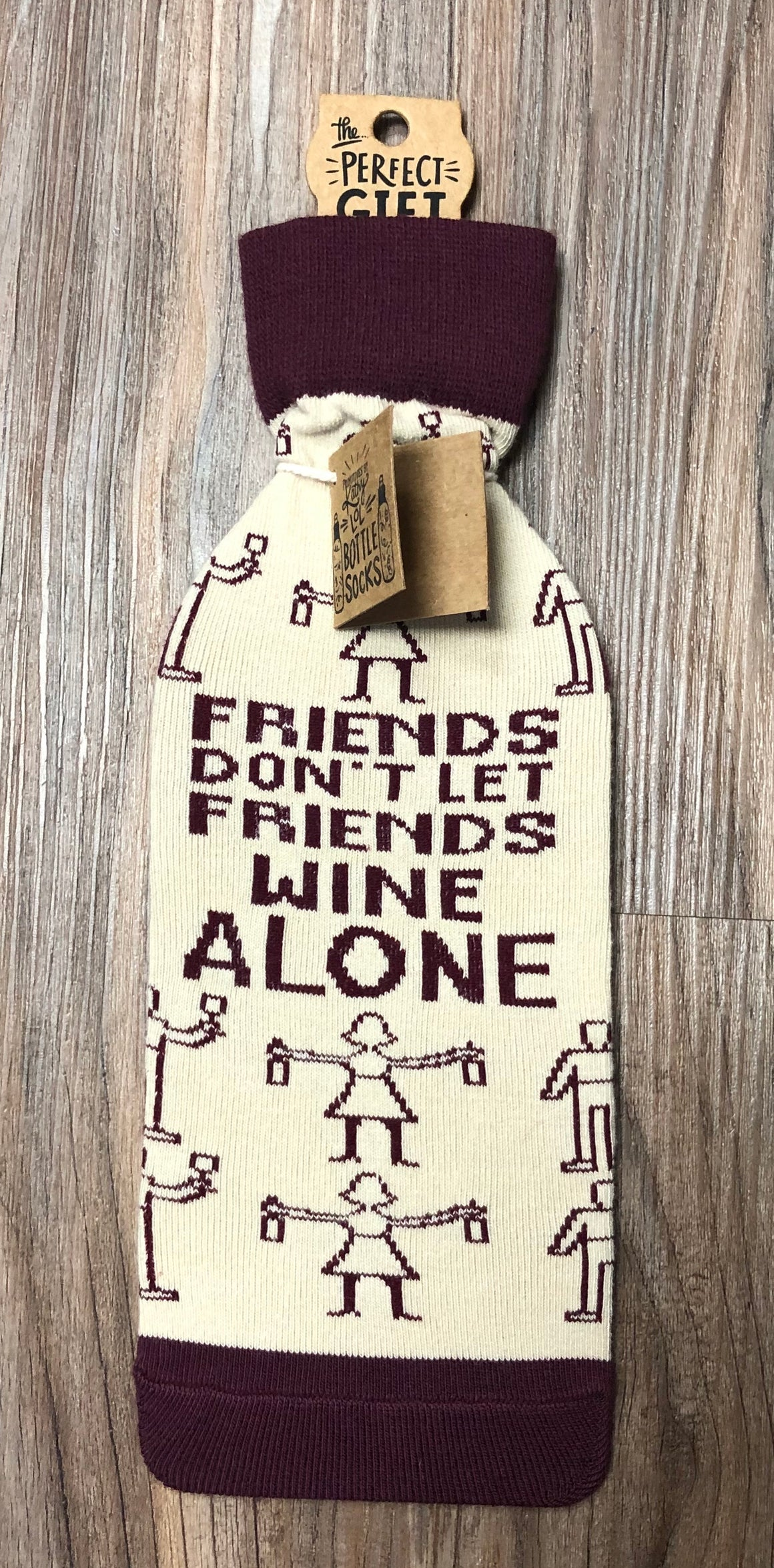 Wine Alone Bottle Cover