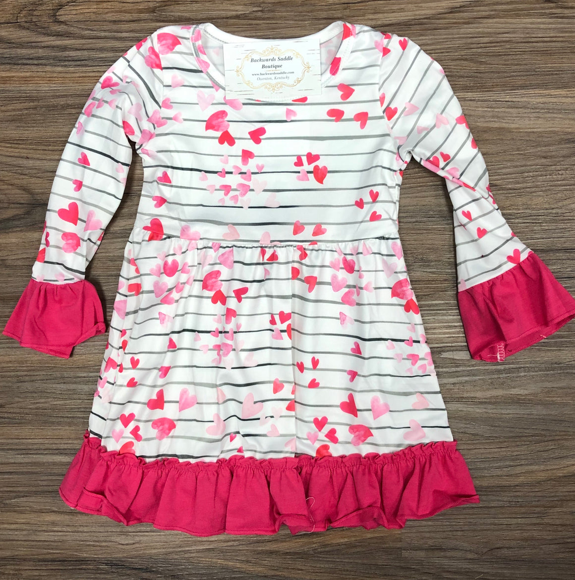 Hearts & Stripe Girls Dress