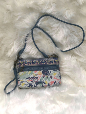 The Sak Blue muli functional purse