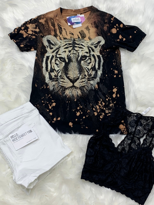 Tiger Bleached Tee