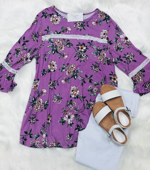 Plus Lavender Floral Top
