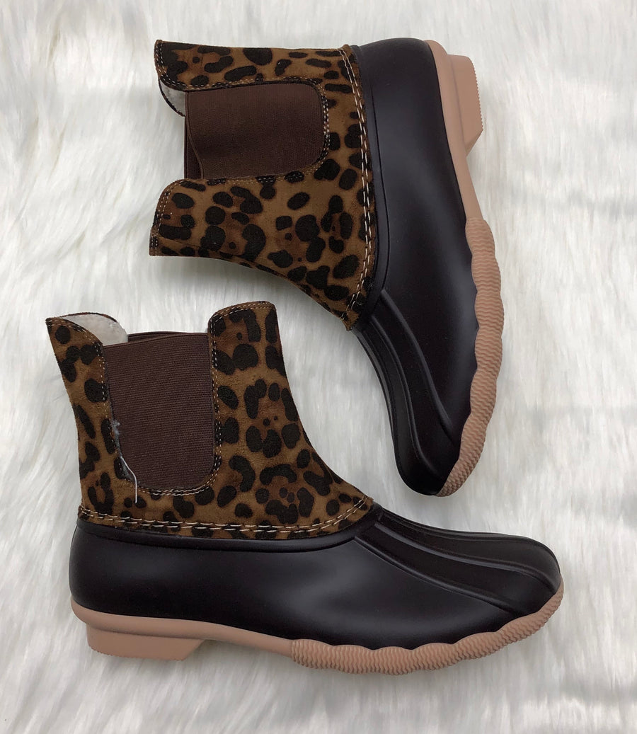 Leopard Suede Combo Winter Boots