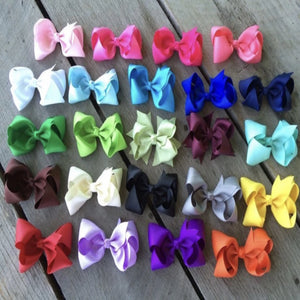 "Solid 4"" Bows"