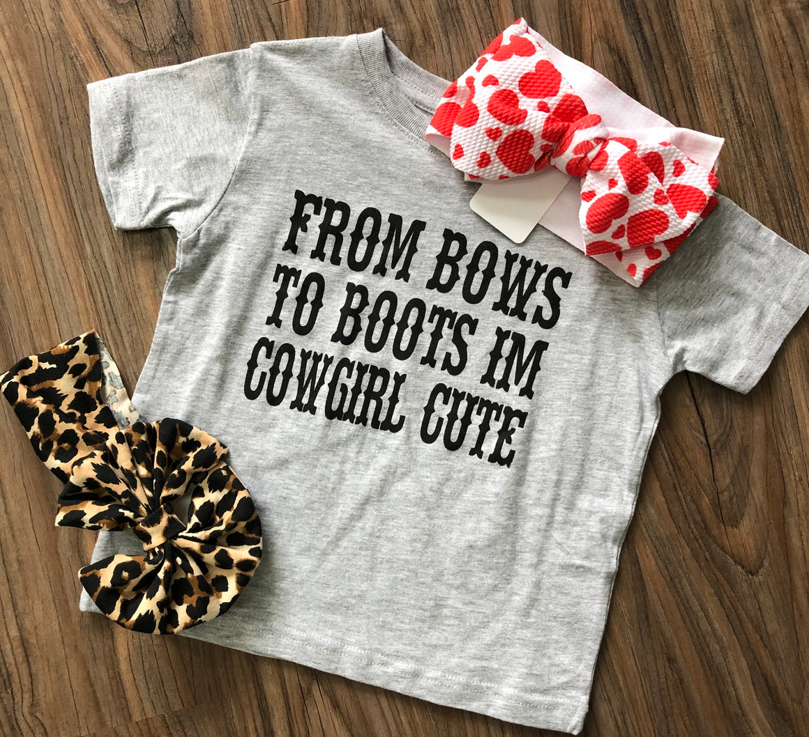 Bows to Boots Tee