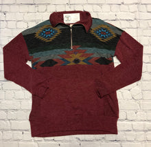 Load image into Gallery viewer, Aztec Burgundy Sweater