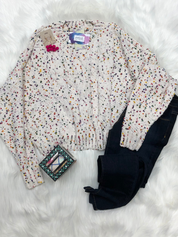Polka Dot Oatmeal Sweater