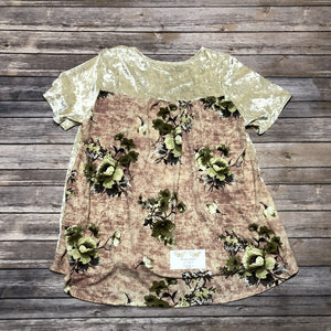 Crushed Natural Velvet Top