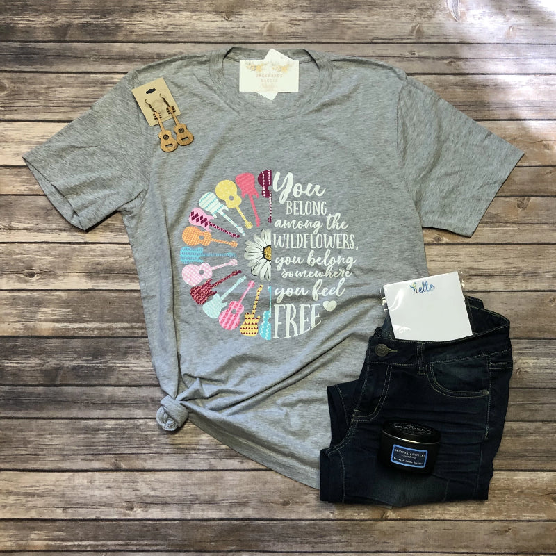Guitars & Wildflowers Tee