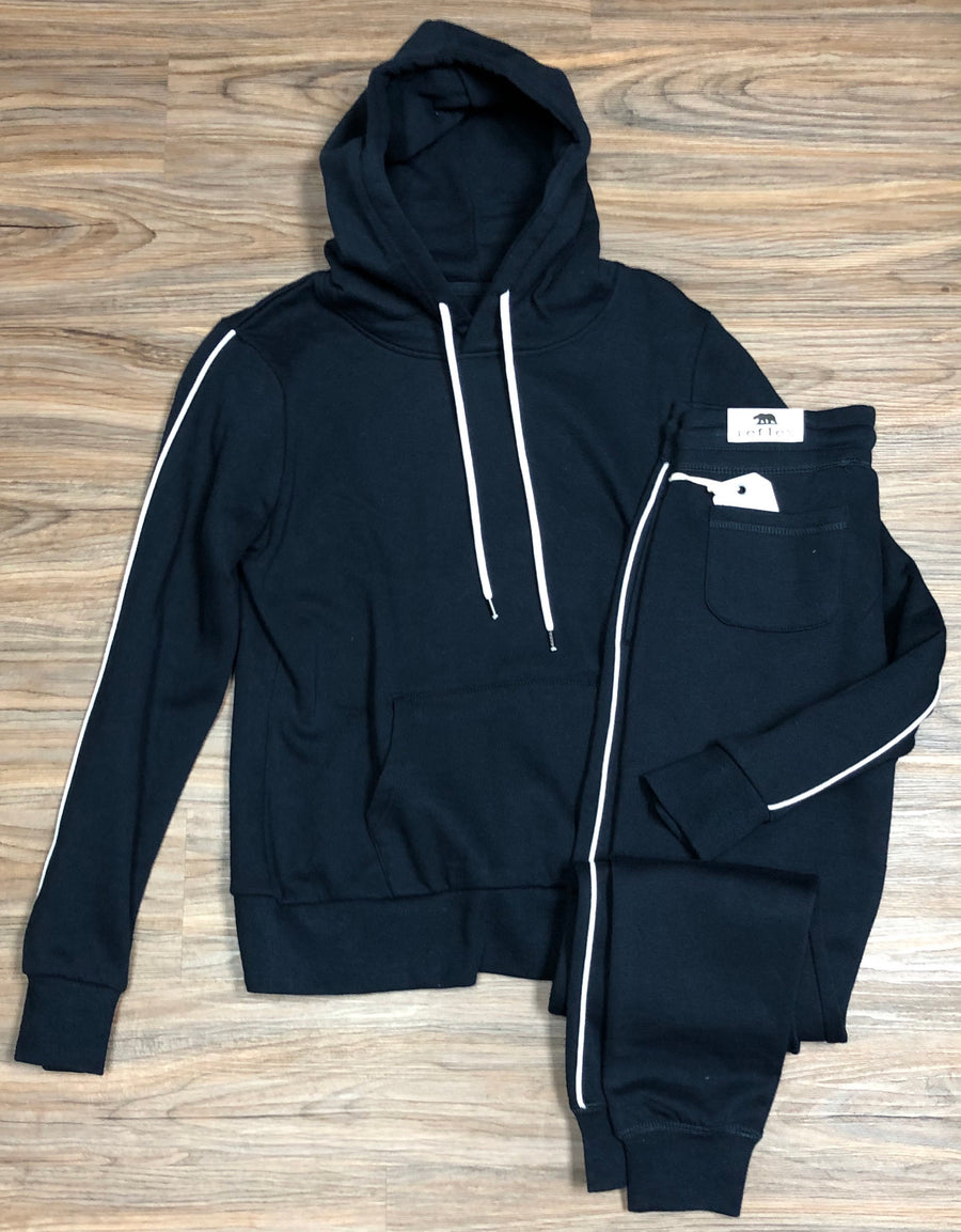 Hoodie jacket and fleece jogger set