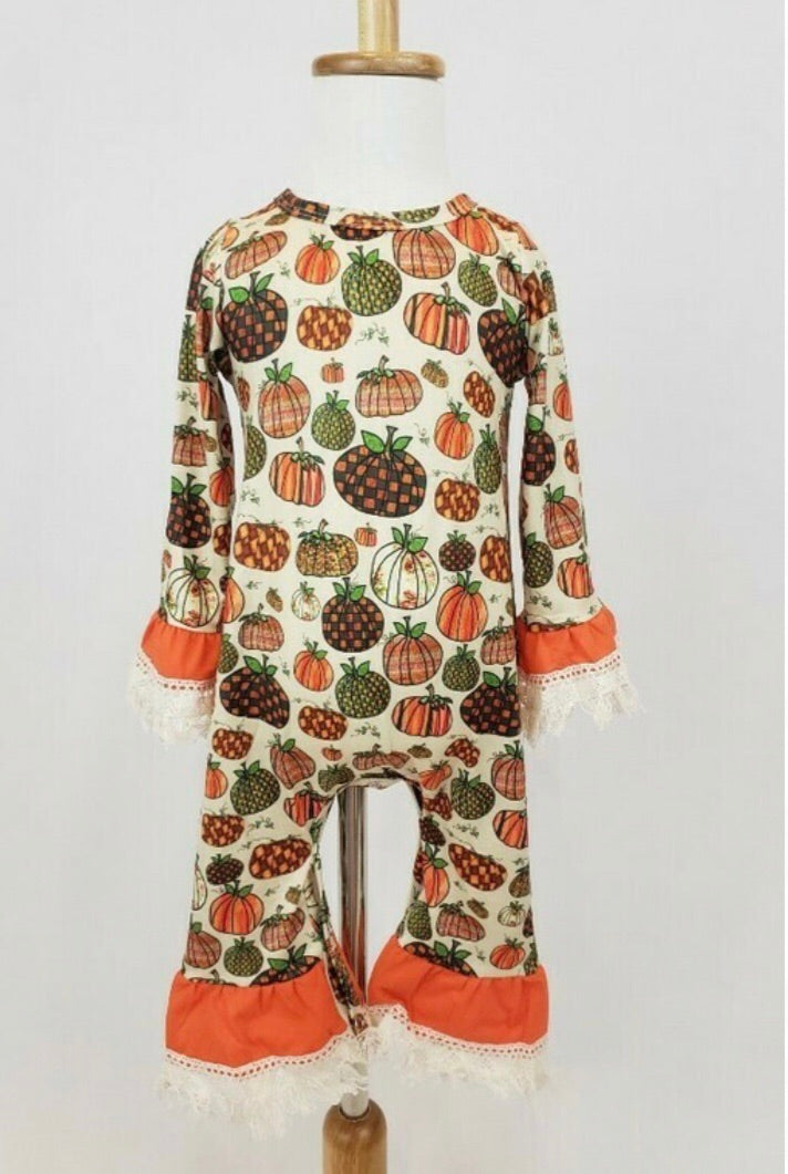Fall Pumpkin Romper