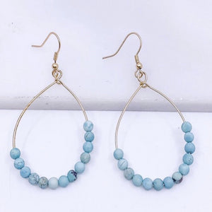 Stone Teardrop Earrings