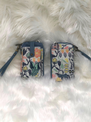 The Sak Smartphone wristlet or crossbody with birds