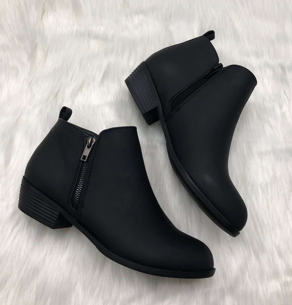Black Solid Bootie
