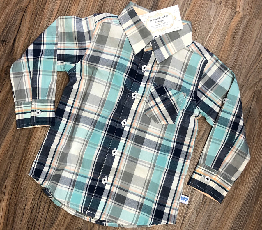 David Plaid Button Down