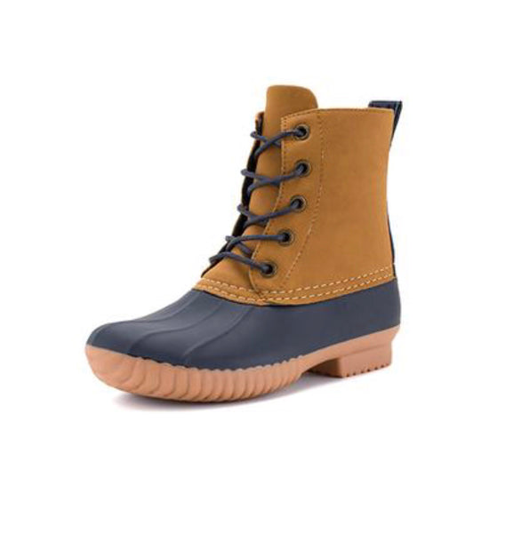 Kids Navy Duck Boots