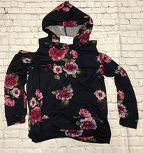 Load image into Gallery viewer, Floral Cold Shoulder Hoodie