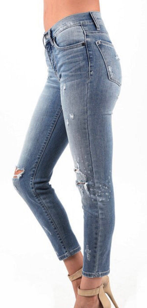 Judy Blue Relaxed Bleach Splashed Jeans