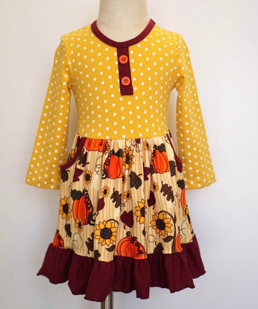 Yellow Pumpkin Dress