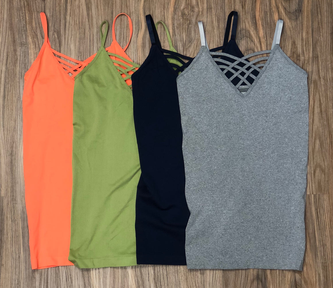 Lattice V-neck Cami