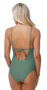 Ruffle Olive One Piece