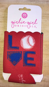 Love Baseball Koozie