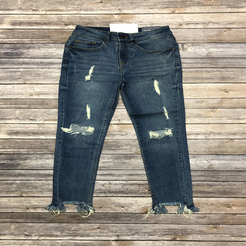 Light Wash Destroyed Skinnies