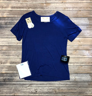 Solid Color Scoop Tee