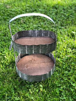 Two Tier Galvanized Caddy