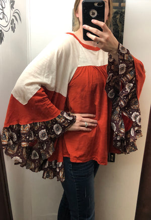 Medallion Ruffle Top