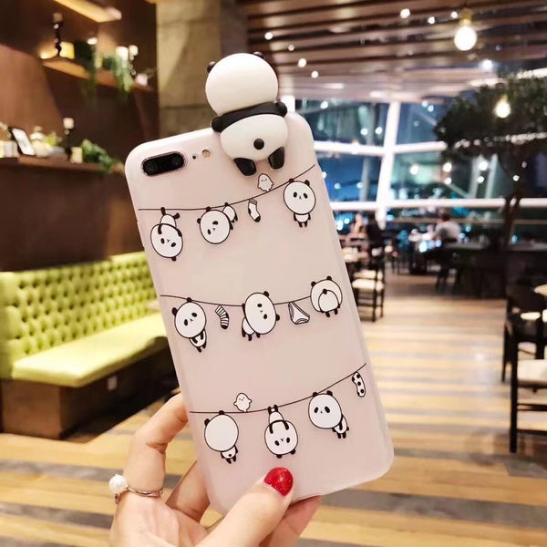 Phonete.com3D Πλήρης κάλυψη Panda iPhone 7 Case50% OFF