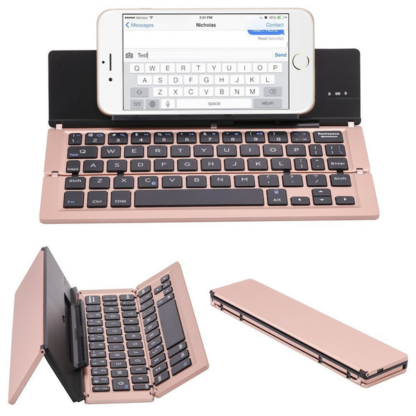 Folding Bluetooth Keyboard Wireless Mini Keyboard