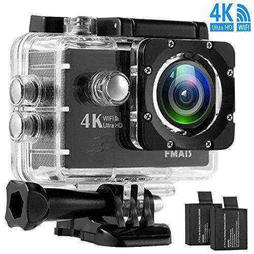 Action Camera 4K 20MP WiFi Ultra HD Underwater Waterproof 40M Sports Camcorder with 170° EIS Sony Sensor
