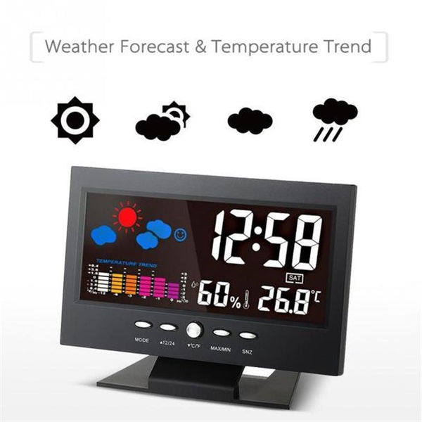 Phonete.comMulti-function Digital Weather Station Clock50%OFF