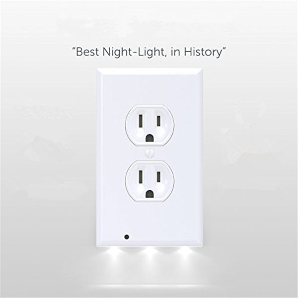 Phonete.comOutlet Wall Plate With LED Night Lights - No Batteries Or Wires - Installs In Seconds50%OFF