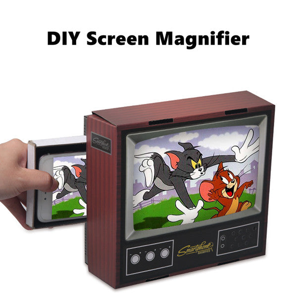 Phonete.comDIY Screen Magnifier - Cell Phone 3D HD Movie Video Amplifier with Foldable Holder Stand for all Smart Phones50%OFF