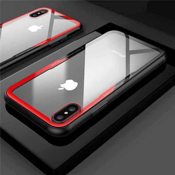 Phonete.comLuxury Slim Unique Shockproof Case with Toughened Glass Back for iPhone X iPhone 7 Plus/8Plus iPhone 7/850%OFF