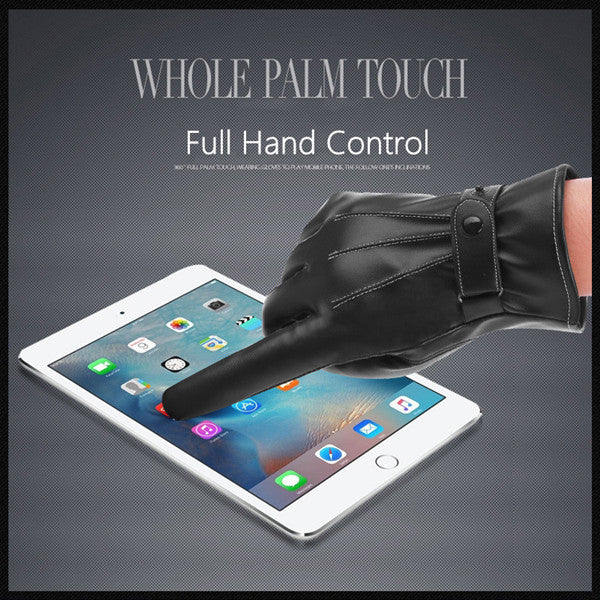Phonete.comWinter Warm Touch Screen PU Leather Gloves50%OFF