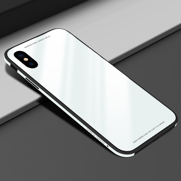 iPhone Case Tempered Glass back Cover for iPhone X, 8, 8 Plus, 7, 7 Plus, 6 Plus, 6S Plus, 6, 6S
