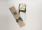 Mother's Day 24 White Cream Roses Gift Box