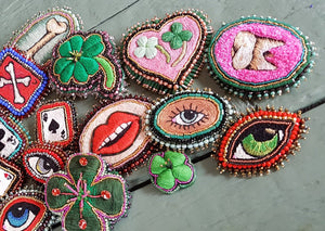 Hand Embroidered patches from Embroidery Artists you must follow
