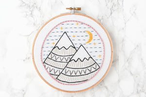Mountain Free Embroidery Pattern