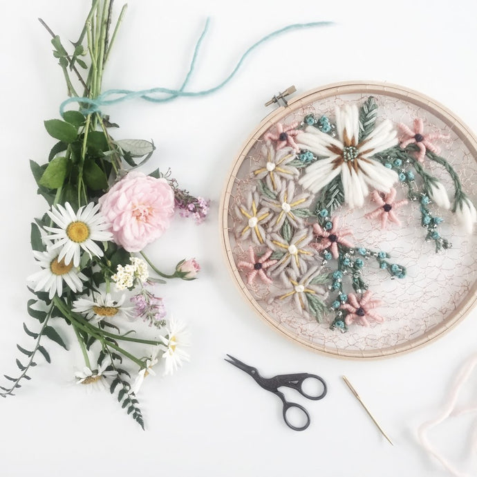 Modern Flower Embroidery to inspire your Creative Summer Projects