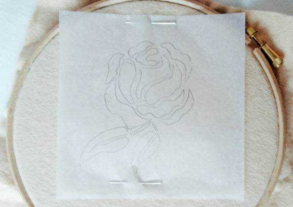 how to transfer embroidery designs on felt,step one draw the design on tracing paper