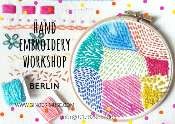 Hand Embroidery Workshop Berlin June