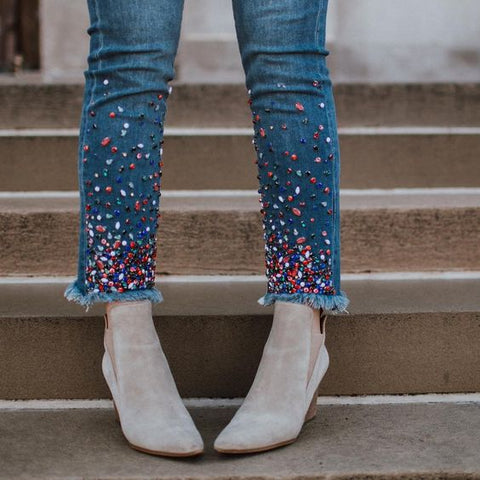 Beaded Jeans Anthropologie Customise Inspiration