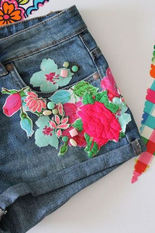 jeans applique customised inspiration