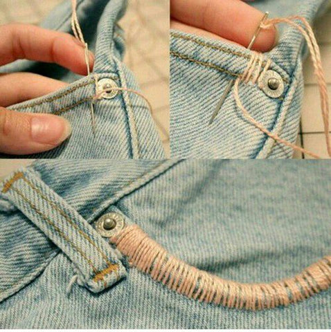 pocket edge embroidery on jeans inspiration